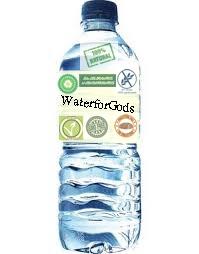 """""""Agua para Dioses"""" -100% natural -0 calorías -Sin grasas TRANS -Sin OMG -Sin gluten -Apta para veganos -Equilibrada -Sin colesterol -Sin colorantes ni conservantes -Sin azúcares añadidos -ECO"""